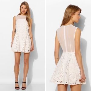 Keepsake The Label Fit & Flare White Lace Dress